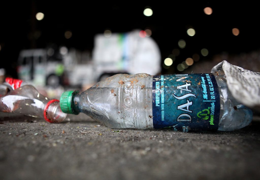 A bottle of Dasani water sits on the floor inside the Recology recycling facility on March 15, 2011 in San Francisco, California. The multi-million dollar bottled water industry continues to prosper despite outrage from environmentalists who point out that at least half of the empty bottles end up in landfills instead of being recycled. Environmental groups are encouraging people to use reusable containers and get their water from the tap which is safe to drink in over 90 percent of the United States.