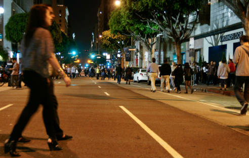 Art Walk draws thousands of people to the streets of downtown L.A. once a month. A family sued the City of Los Angeles, alleging overcrowding led to the death of their infant when a car jumped the curb.