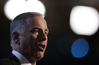 File photo of Howard Dean speaking during the 2008 Democratic National Convention (DNC) in Denver, Colorado.