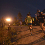 Racers start off in the darkness at the Western States 100-Mile Endurance Run.