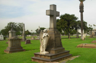 An official LA Archdiocese Catholic cemetery.