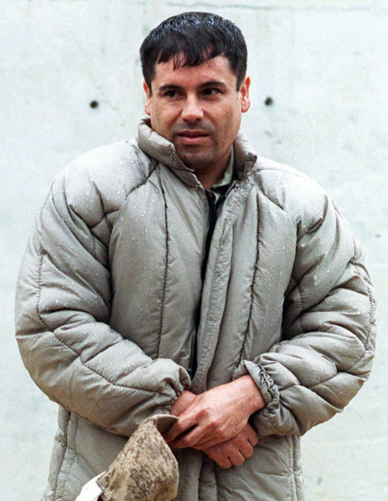 This July 10, 1993 file photo shows Mexican Joaquin Guzman Loera, aka El Chapo, at La Palma prison in Almoloya of Juarez. Guzman Loera who escaped from prison in 2001 is part of the Sinaloa Federation and is considered by Forbes magazine as the most powerful criminal in the world.