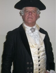 Actor John Curd as Benjamin Stoddert, the first Secretary of the new United States Navy.