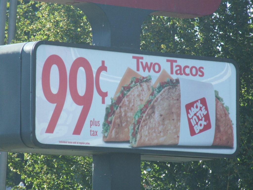 Jack in the Box sells 554 million tacos a year.