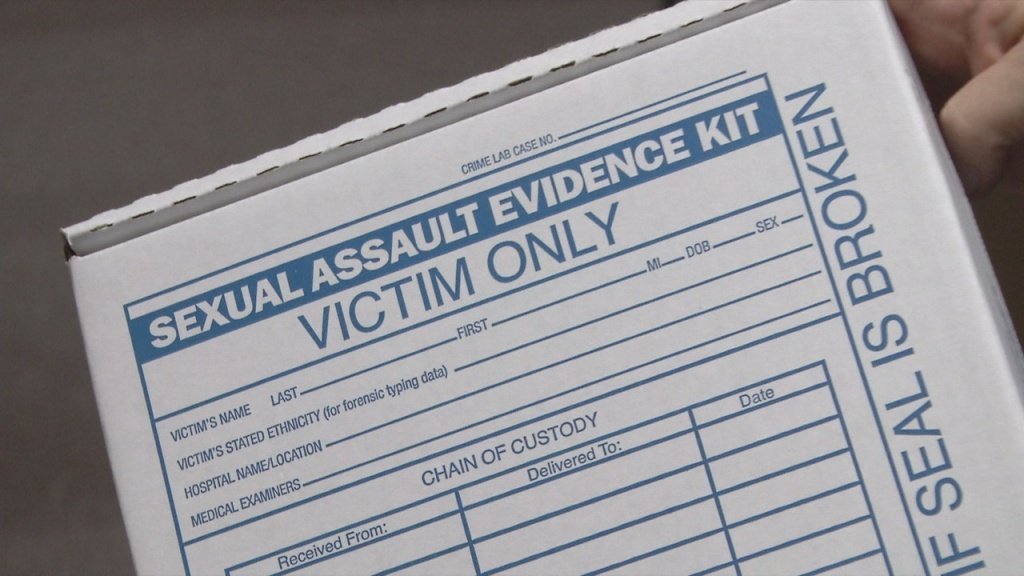 One example of the rape kits that are available to victims