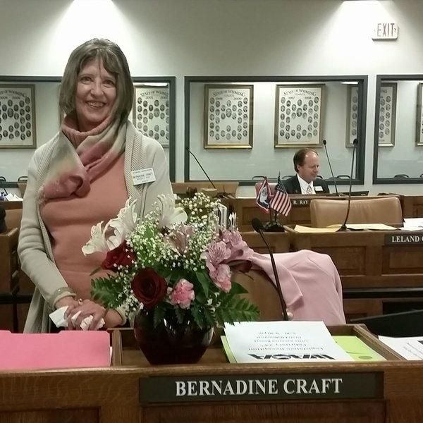 State Senator Bernadine Craft is the only female member of Wyoming's 30 seat Senate.