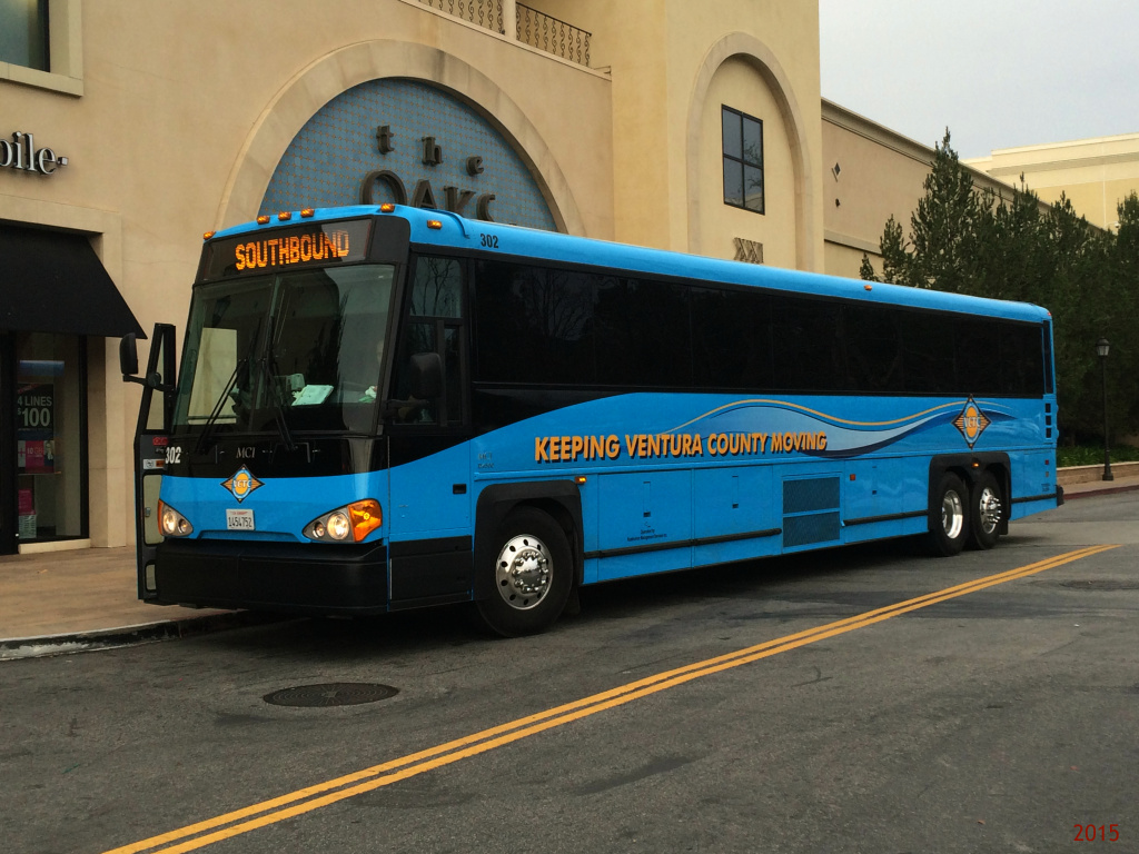 Ventura County bus at The Oaks Mall in Thousand Oaks, California on January 28, 2015.