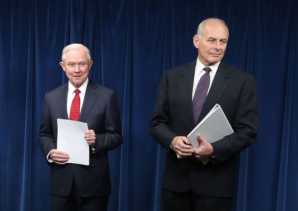 Secretary of Homeland Security John Kelly (R) and Attorney General Jeff Sessions sent a letter to California Supreme Court Chief Justice Tani Cantil-Sakauye defending the practice of arresting immigrants in courthouses.