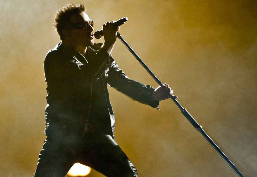 U2's Bono performs on July 8, 2011 in Montreal, Canada, part of their
