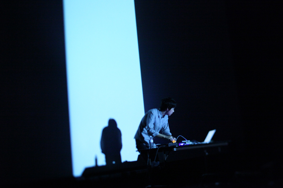 Nosaj Thing performing in downtown Los Angeles