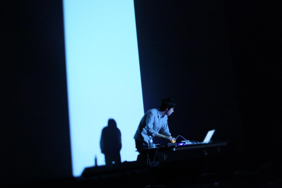 Nosaj Thing performing in downtown Los Angeles