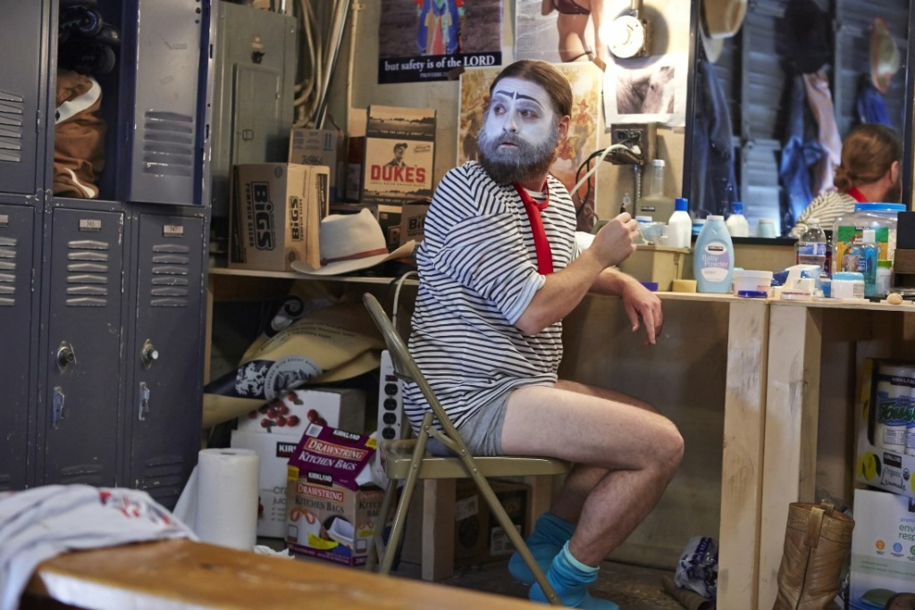 Zack Galifianakis stars as a struggling clown, Chip Baskets, in the new FX comedy series,
