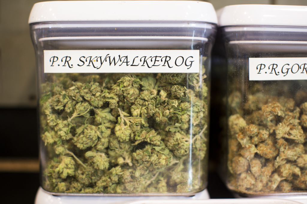 File: Kushmart, one of the largest medical dispensaries in downtown Los Angeles, has 55 strains of marijuana. Several strains at the dispensary are named after Star Wars characters.