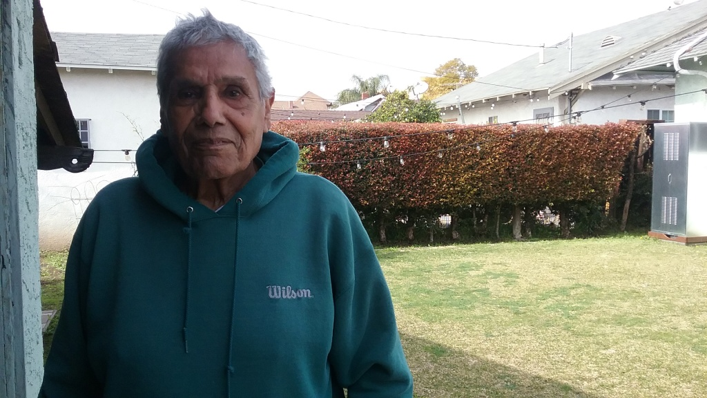 Fermin Vega, 93, Vega has lived at his home, or the one next door, for more than six decades.