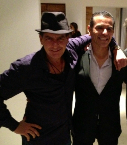 Charlie Sheen and Mayor Antonio Villaraigosa. The actor said on Twitter that the mayor