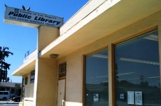 The old branch library, to be replaced in 18 months.