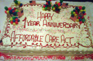 Health care reform birthday cake