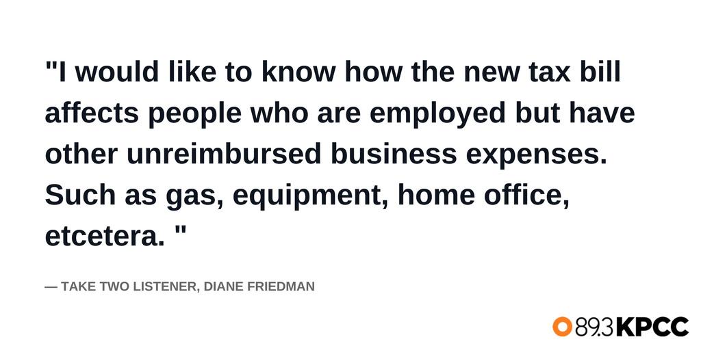 A tax question from listener Diane Friedman.