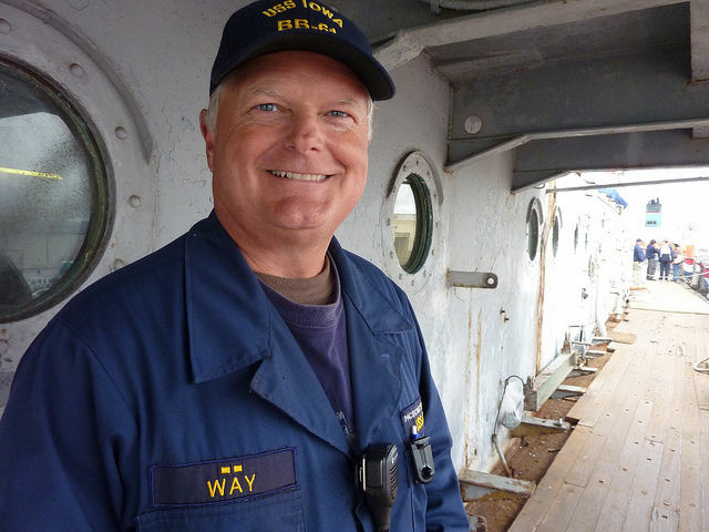 Portrait of David Way, the USS Iowa tour director.