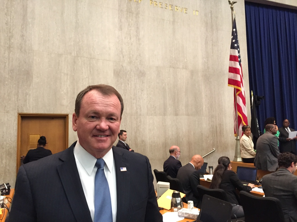 Sheriff Jim McDonnell at a Board of Supervisors meeting.