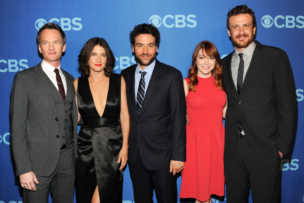 Cast members of How I Met Your Mother Neil Patrick Harris, Cobie Smulders, Josh Radnor, Alyson Hannigan and Jason Segel attend CBS 2013 Upfront Presentation at The Tent at Lincoln Center on May 15, 2013 in New York City.