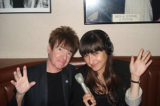 Off Ramp's Andrea Domanick swapped bang-straightening tips with Rodney Bingenheimer in his designated booth--dedicated to him by Nancy Sinatra in 1999--at Canter's Deli, where he eats dinner every night.