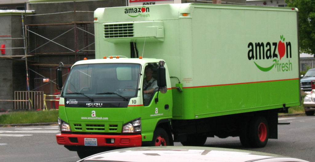 AmazonFresh launched in parts of Los Angeles on Monday.