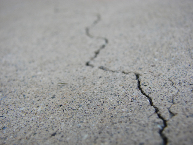 cracked ground earthquake