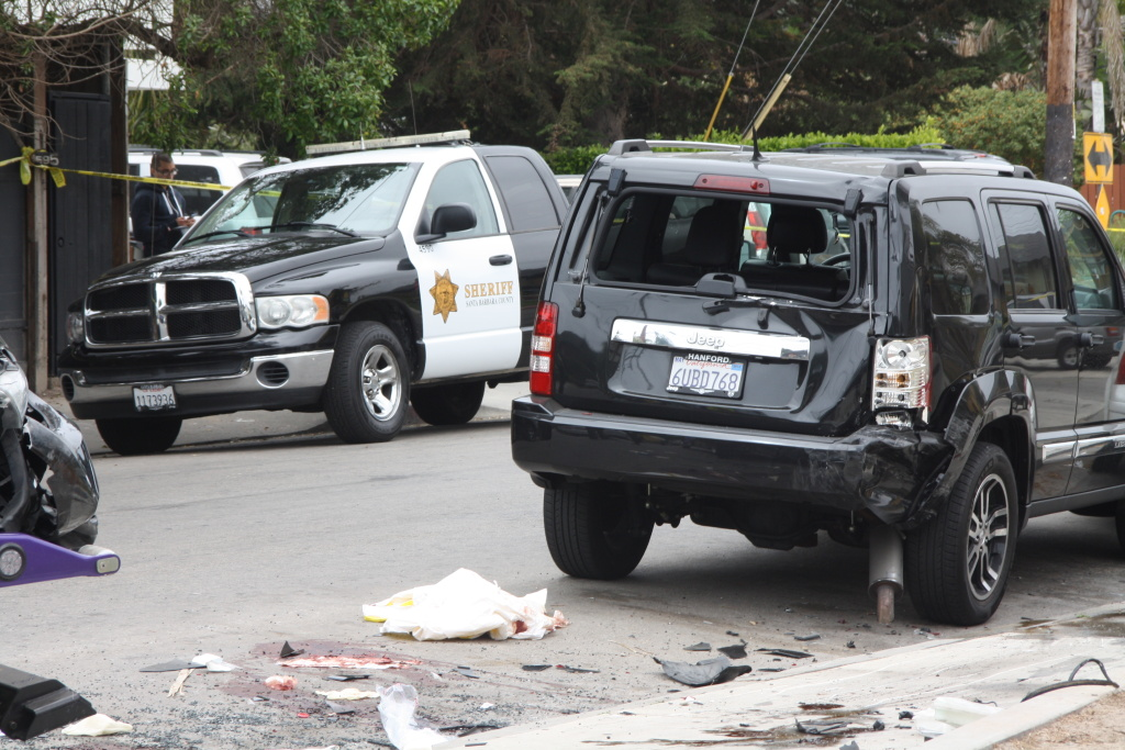 The aftermath of a shooting near the University of California, Santa Barbara in Isla Vista, as seen on Saturday, May 24, 2014.