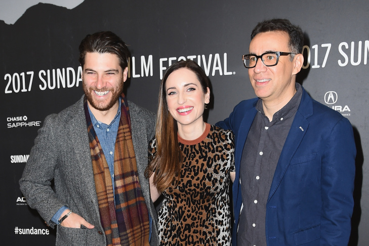 Adam Pally, director Zoe Lister-Jones and Fred Armisen attend the