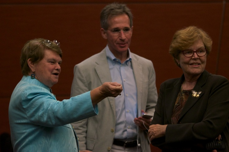 The first debate for the race to succeed Zev Yaroslavsky on the L.A. County Board of Supervisors was held Thursday night at UCLA.
