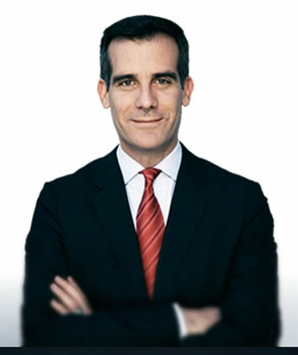 L.A. City Councilman and mayoral candidate Eric Garcetti is leading among Latino voters, according to a recent survey. He is also the only major candidate who can claim some Latino heritage.