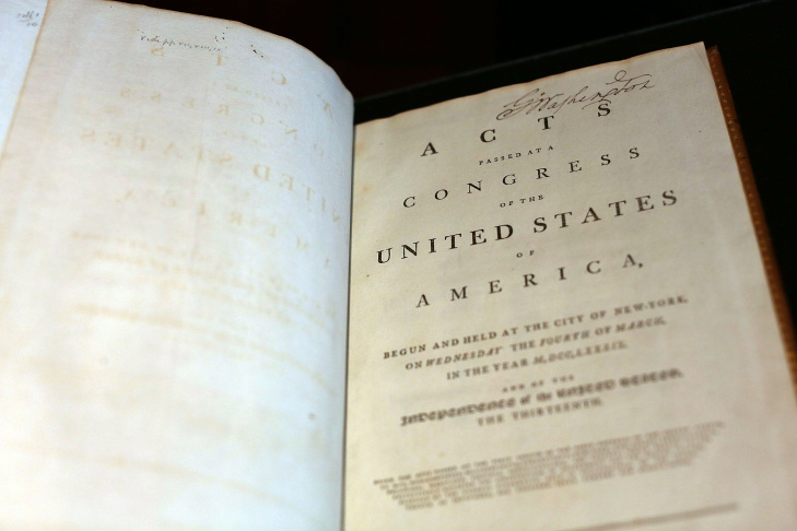 1789 Copy Of US Constitution Once Owned By George Washington To Be Auctioned