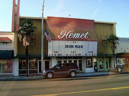 The Hemet theatre in downtown Hemet, CA
