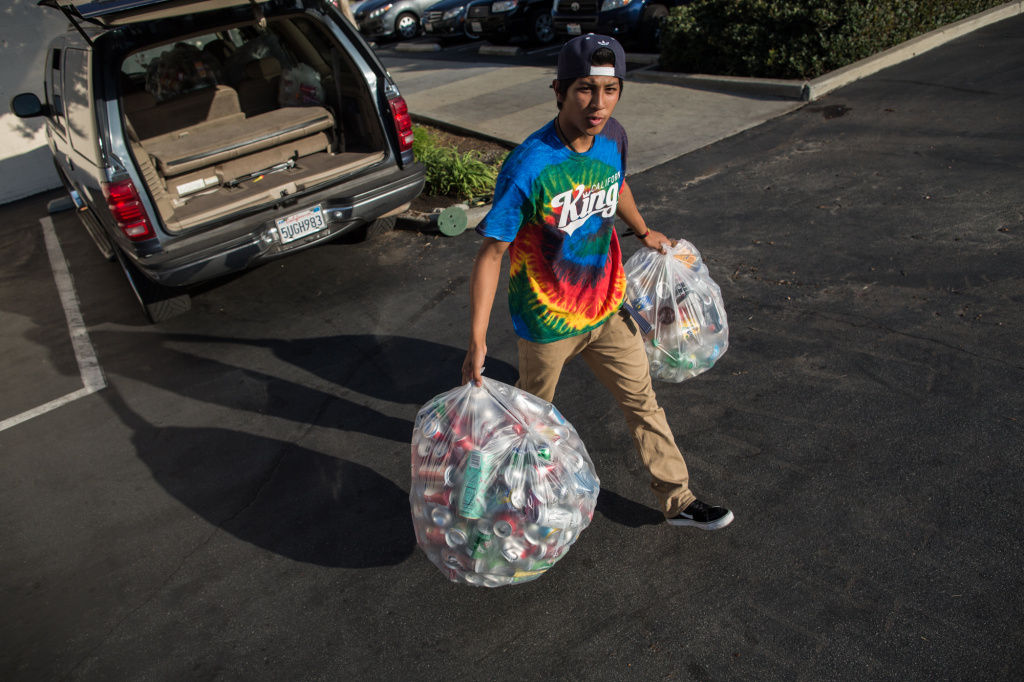 A California law that went into effect in November will make it more difficult for those who collect recyclable cans and bottles to earn money.