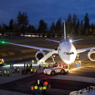 The first Boeing 787-881 Dreamliner delivered to All Nippon Airlines.