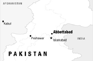 Map showing Abbottabad