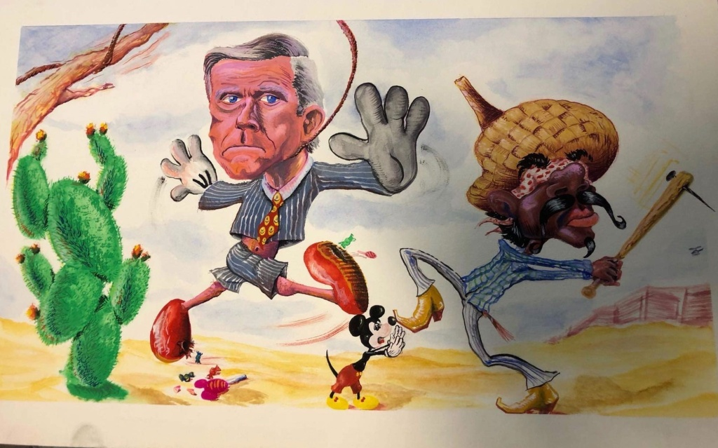 Votan Henriquez mural of Pete Wilson.