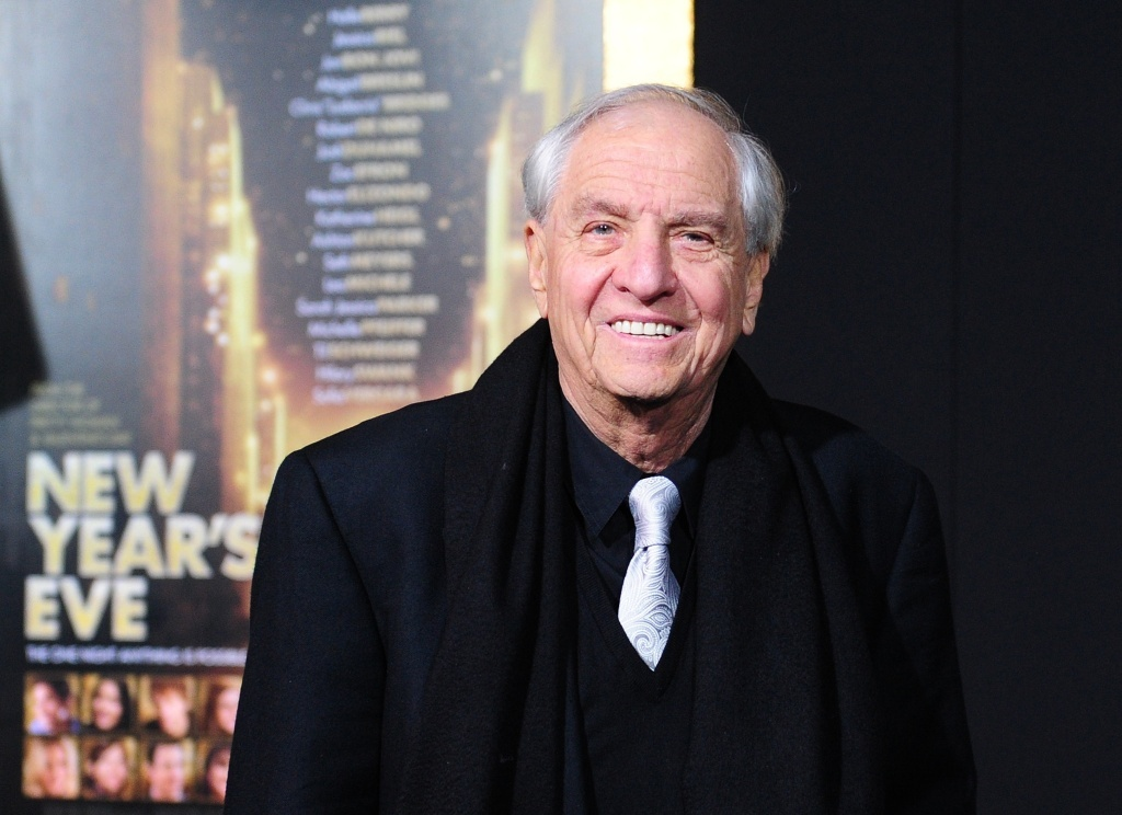 Director Garry Marshall poses on arrival for the film premiere of