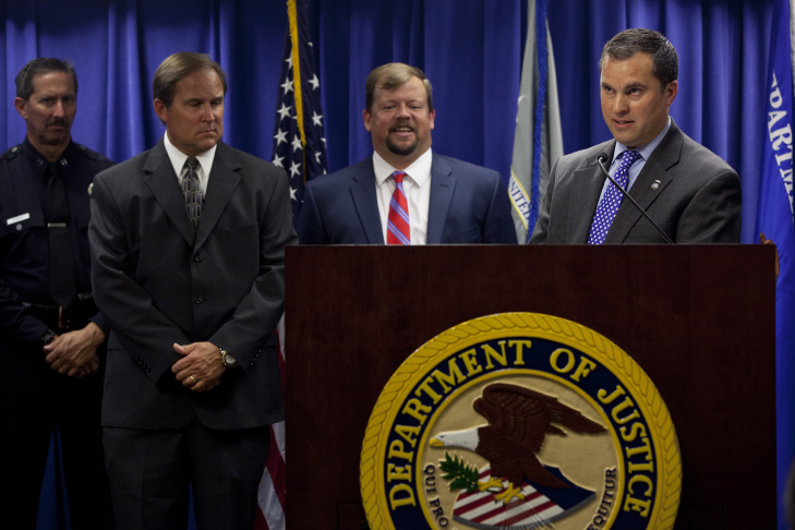 Homeland Security Investigations seized in excess of $65 million in cash Wednesday morning during a coordinated multi-agency bust of LA fashion industry companies accused of links to money laundering schemes associated with Mexican drug cartels.