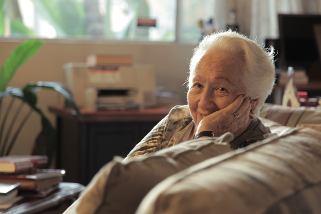 "Holocaust survivor, Renee Firestone, in ""The Last Laugh."""
