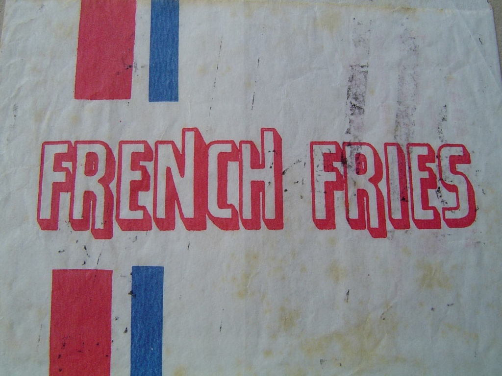 french fries vintage retro wrapper