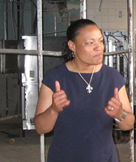 In February 2007, Broadmoor activist LaToya Cantrell promised to rebuild Wilson Elementary School. The basement of the building was flooded during Hurricane Katrina, and the building was crumbling due to neglect.