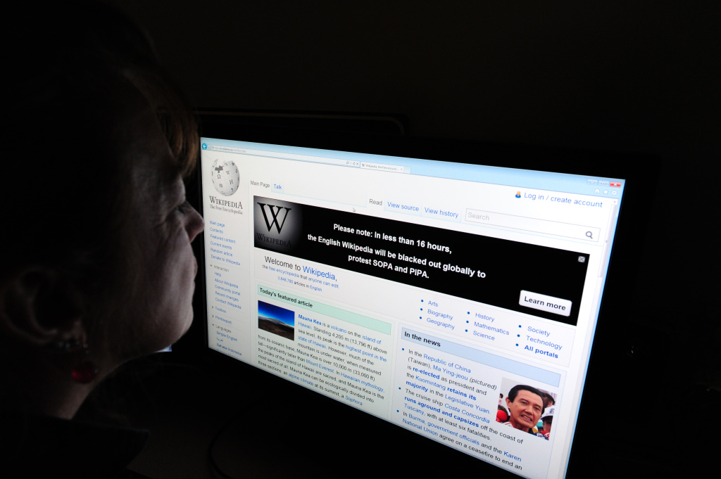 Wikipedia was planning on shutting down for 12 hours to protest the Stop Online Piracy Act.