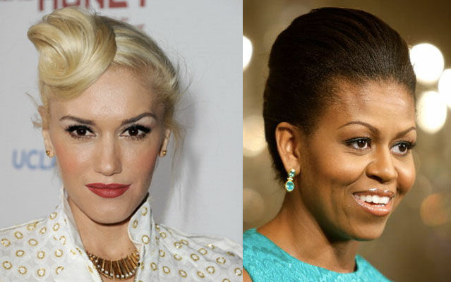 Singer Gwen Stefani and First Lady Michelle Obama.