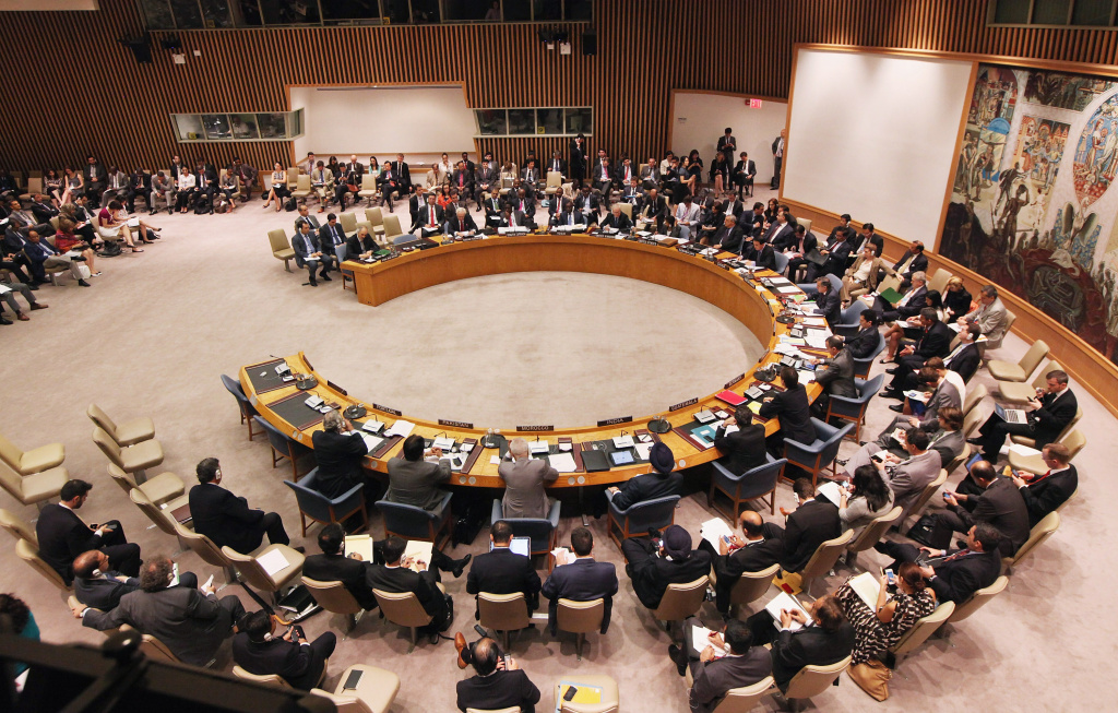 The United Nations Security Council meets after a vote on a newl resolution on Syria at U.N. headquarters on July 19, 2012 in New York City. The resolution aimed at ending the violence with non-military sanctions in Syria failed to gather enough votes to pass with Russia and China vetoing.