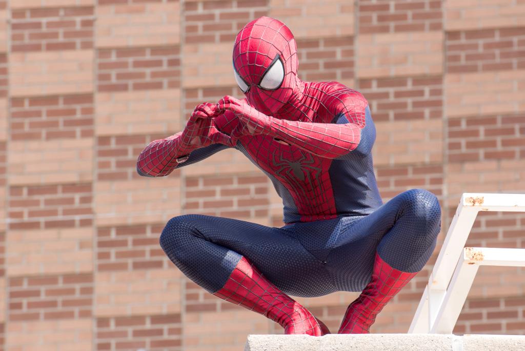 Spiderman attends