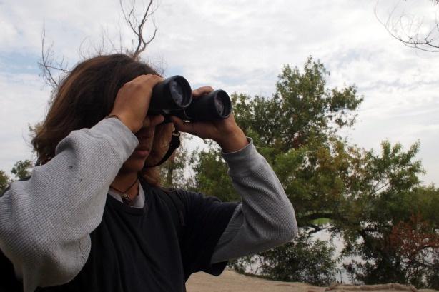 15-year-old Jose Sandoval, bird watching at Ken Malloy Harbor Regional park