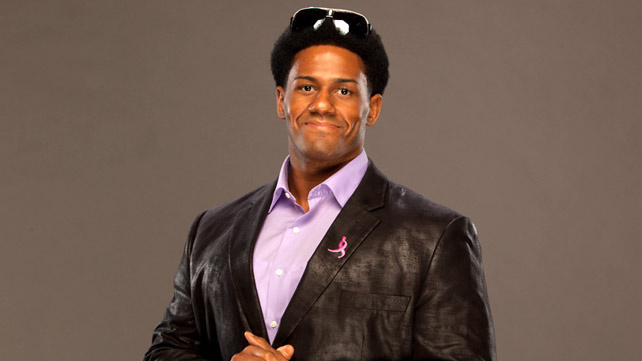 An official WWE headshot of pro wrestler Darren Young.