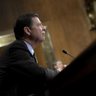FBI Director James Comey testifies before the Senate Judiciary Committee on Capitol Hill in Washington, DC, May 3, 2017.